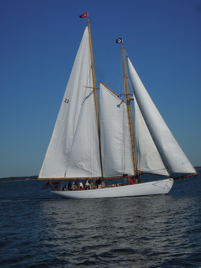 "Schooner ""Brilliant"" off Mystic Seaport"